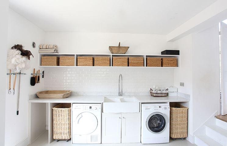 Lavatoio lavanderia bagno organizzare lavanderia con - Mobili per lavanderia di casa ...
