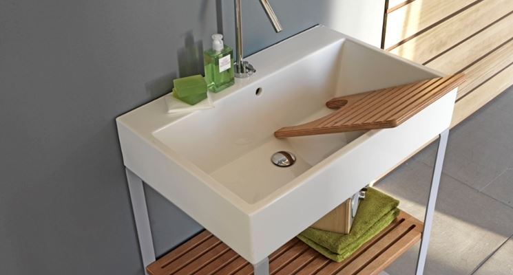 Lavello lavanderia bagno lavello della lavanderia - Lavandini da cucina in ceramica ...