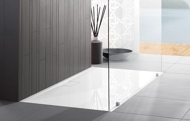 Piatti doccia in materiali innovativi bagno i nuovi materiali per i piatti doccia - Doccia senza piatto doccia ...