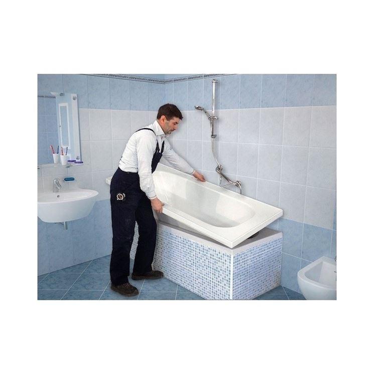 sovrapporre vasca da bagno