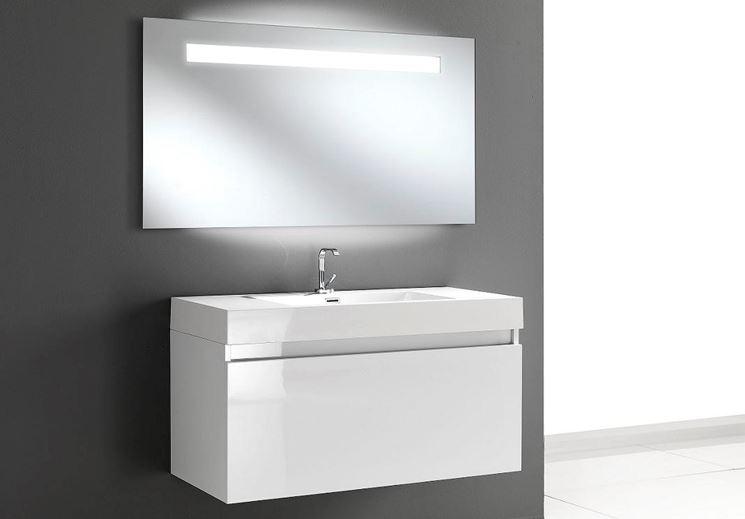 Specchio bagno con luce bagno scegliere tra gli specchi bagno con luce - Illuminazione bagno moderno ...