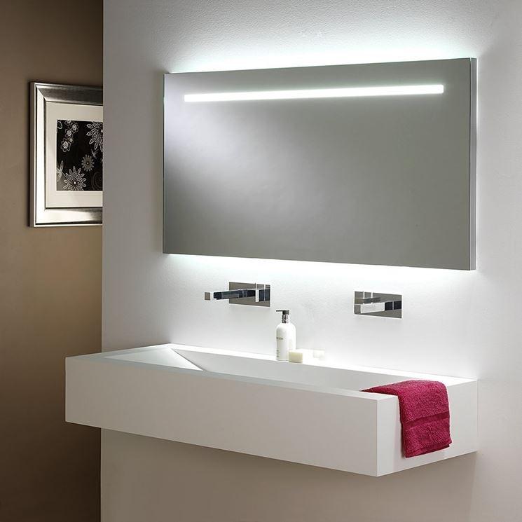 specchio bagno con luce