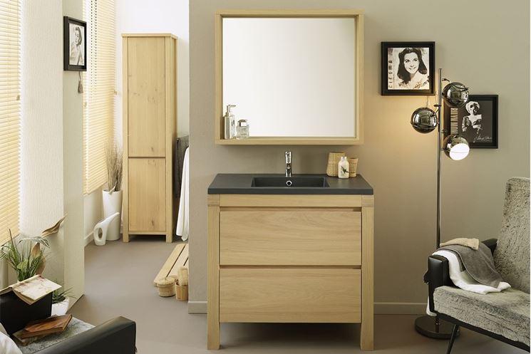 mobile con specchio per il bagno