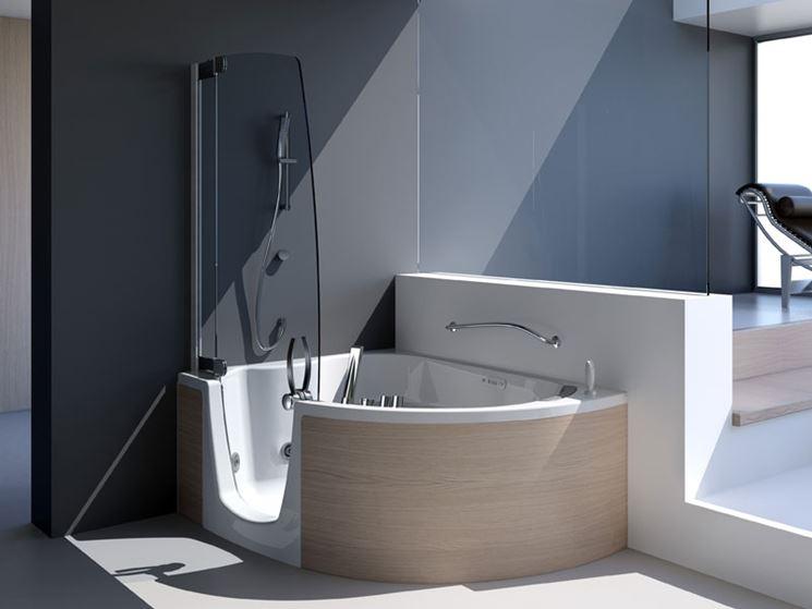 Vasche ad angolo bagno vasche angolari for Vasche da bagno con doccia