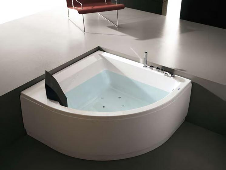 Vasche ad angolo bagno vasche angolari - Vasca da bagno angolare misure ...