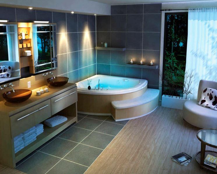 vasca da bagno angolare moderna