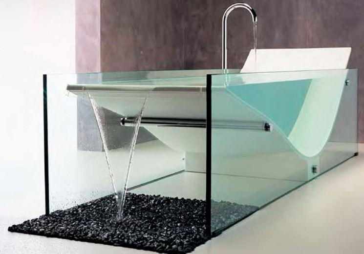 vasche in vetro - bagno - Vasche Da Bagno D Arredo