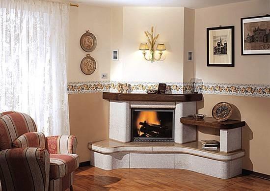 caminetti ad angolo - caminetti - Soggiorno Ad Angolo Roma