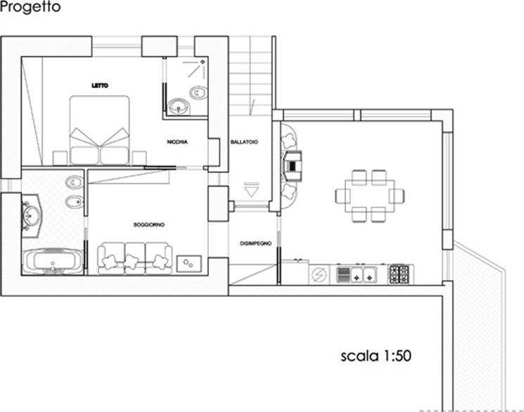 Casa di 80 mq e 5 idee di progetto costruire una casa - Progetto casa 80 mq ...