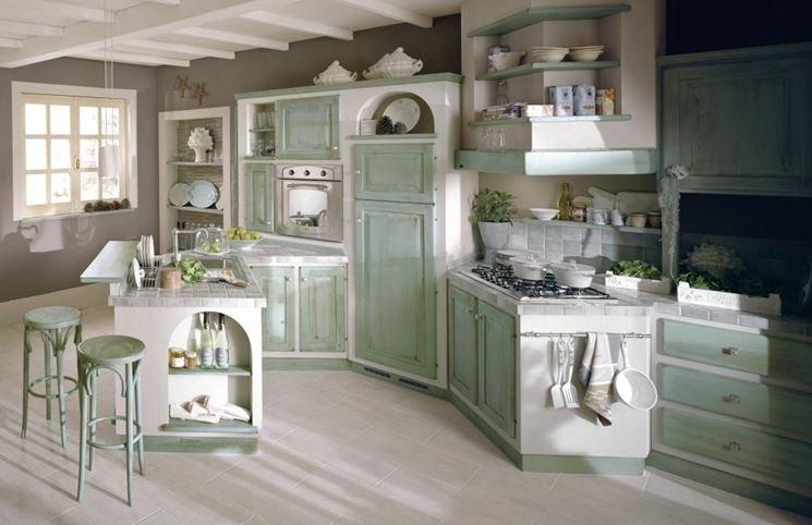 progettare una cucina in muratura