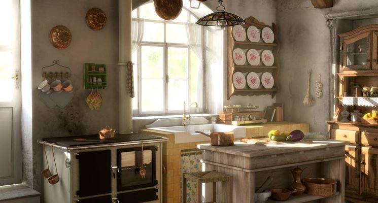 Creare una cucina economica in muratura in stile rustico - Cucina