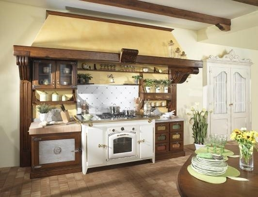 Creare una cucina economica in muratura in stile rustico cucina - Cucine in muratura economiche ...
