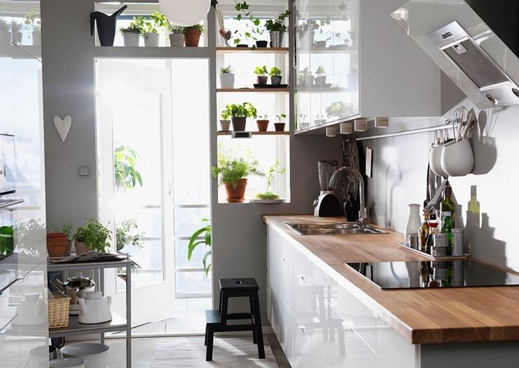 Cucina compatta Ikea moderna
