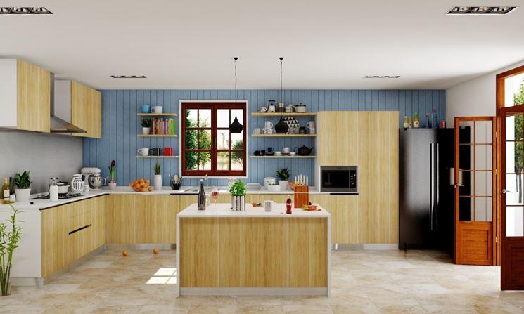 cucina con isola moderna