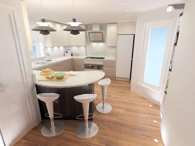 Cucina con penisola curva come progettarla cucina - Bancone per cucina ...