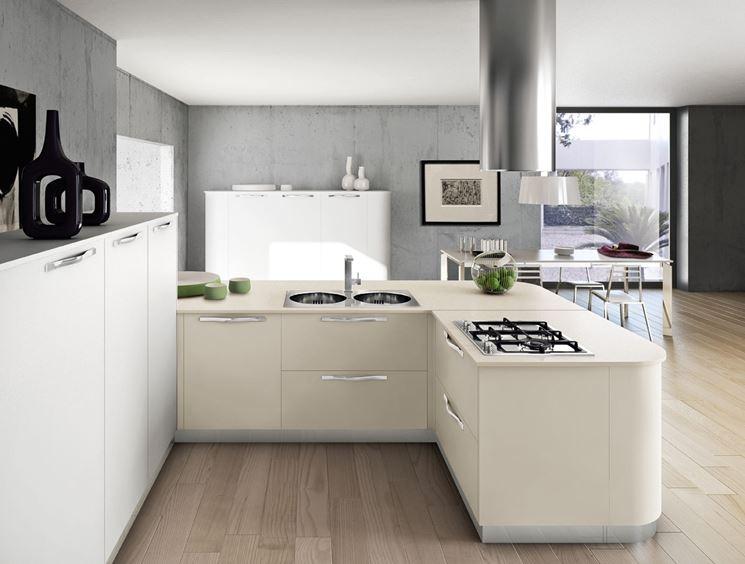 cucina con curve