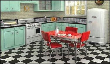 Elementi caratteristici cucina anni 50