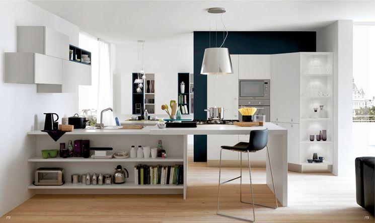 Cucina e soggiorno insieme, un progetto dinamico - Cucina - Cucina e ...