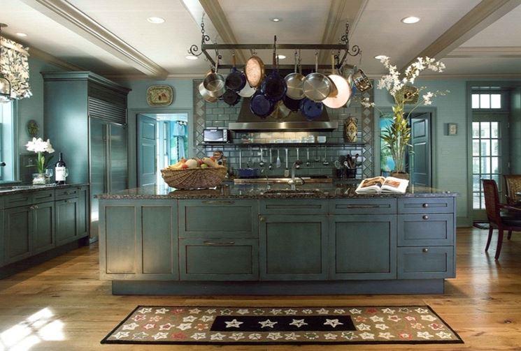 decorazione cucina in arte povera