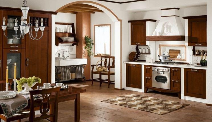 cucina muratura rustica