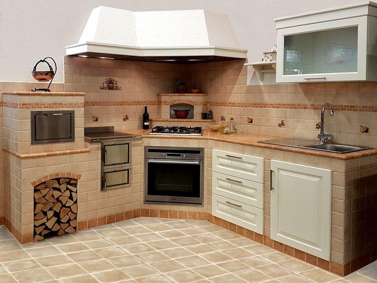 Progetto cucina in muratura rustica