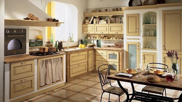 esempio cucina rustica in muratura