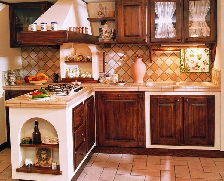 Cucina muratura e legno cucina cucina in muratura e legno for Casa migliore da costruire