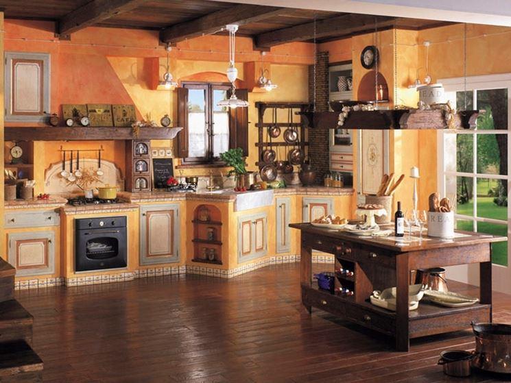 Cucina muratura e legno cucina cucina in muratura e legno - Cucina angolo cottura in muratura ...