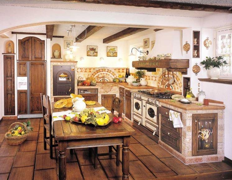 Cucina rustica idea di progetto cucina - Cucina rustica con isola ...