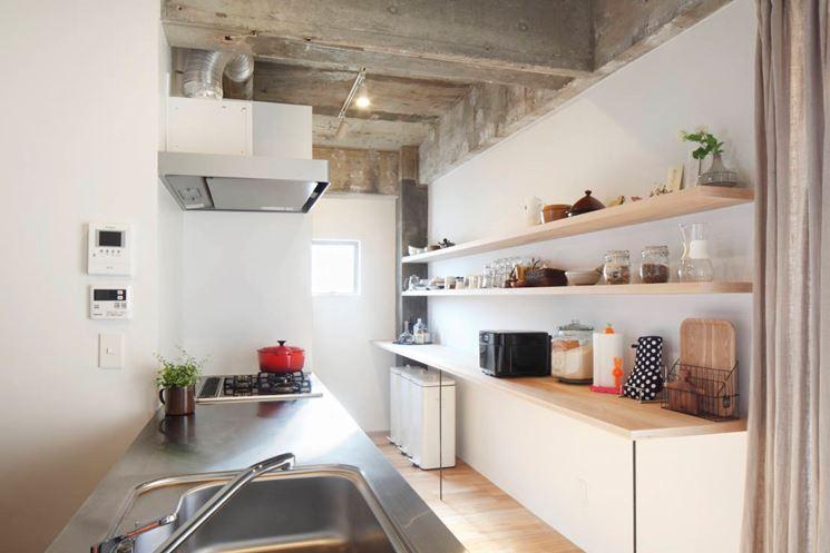 Cucina stretta e lunga come arredarla cucina arredare for Moderni piani casa stretta