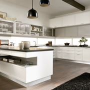 Cucina con penisola Timeline Aster