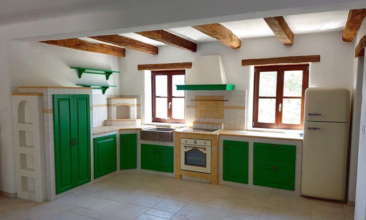 Cucine in muratura prefabbricate - Cucina - Caratteristiche ...