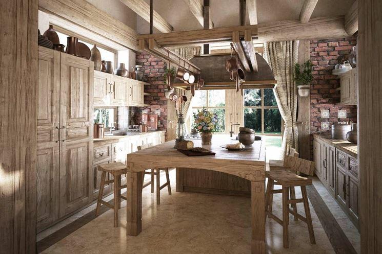 Cucine in muratura rustiche cucina - Cucine rustiche con isola ...