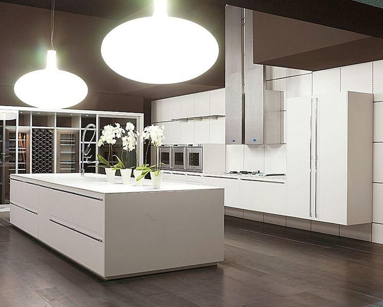 esempio di cucina moderna con isola