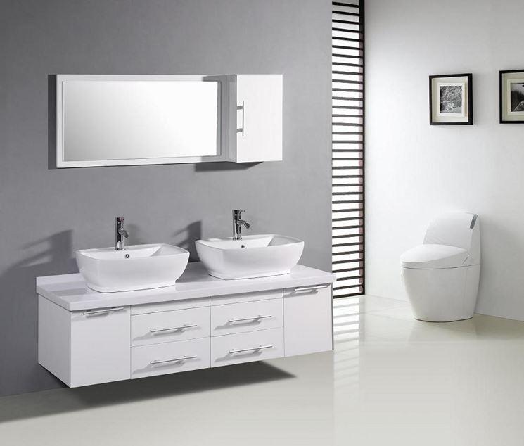 Doppio lavabo con mobile