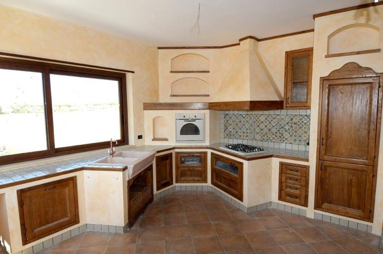mobili per cucina in muratura - Cucina