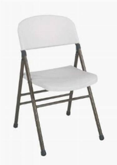 sedia pieghevole bianca
