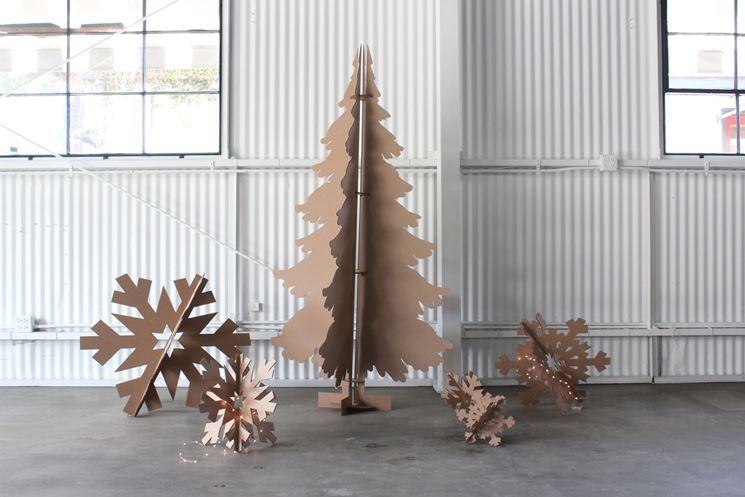 decorazioni natalizie di cartone