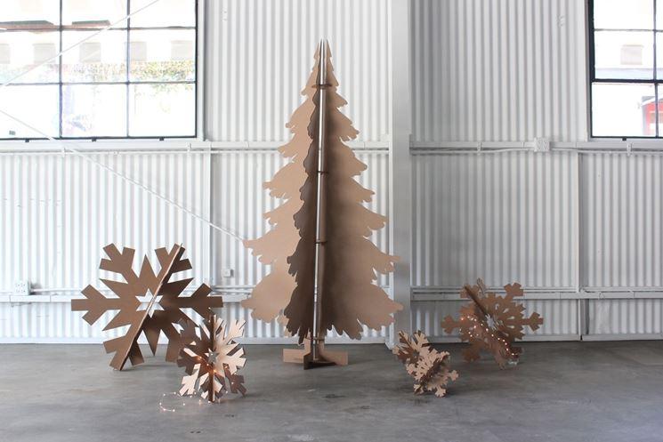 albero di Natale di cartone