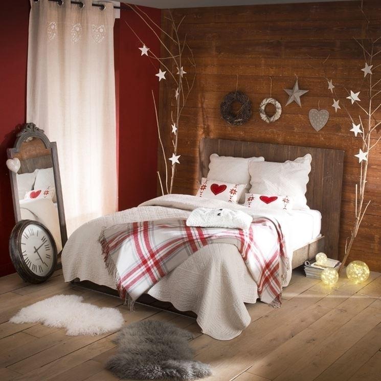 camera decorata per Natale