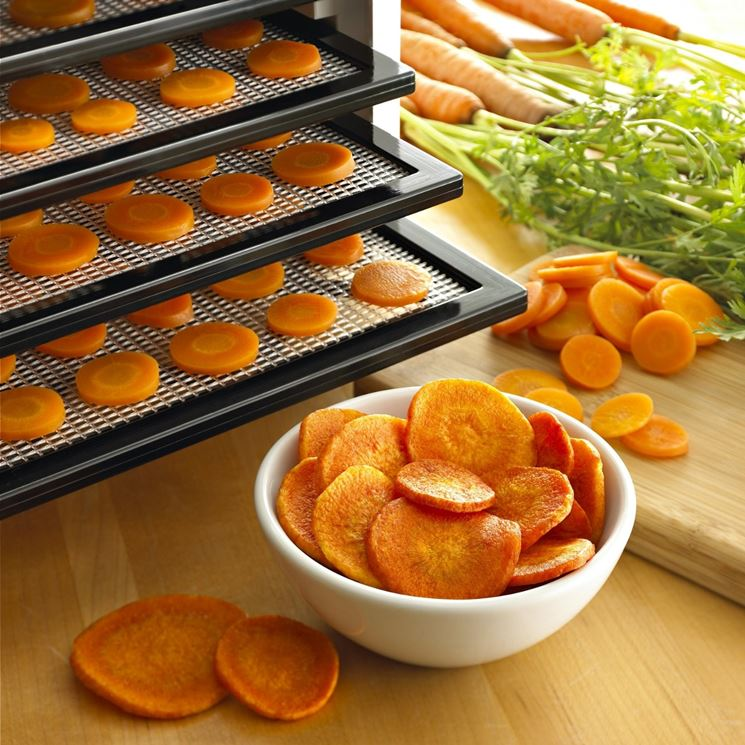essiccare carote