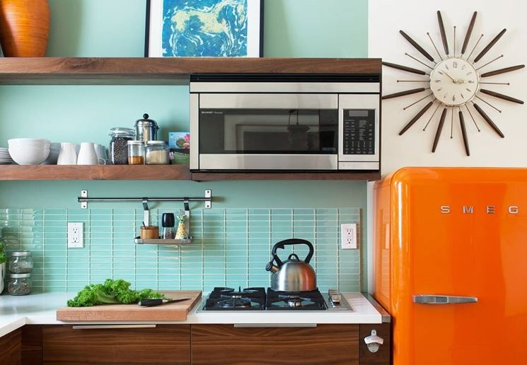 frigo vintage arancio