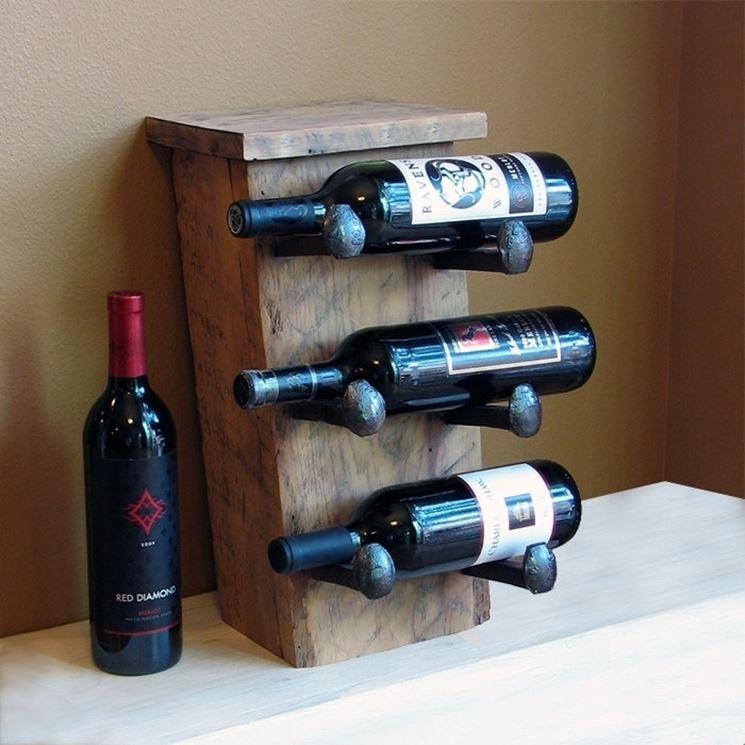 Portabottiglie di design oggetti di casa come for Porta vino fai da te