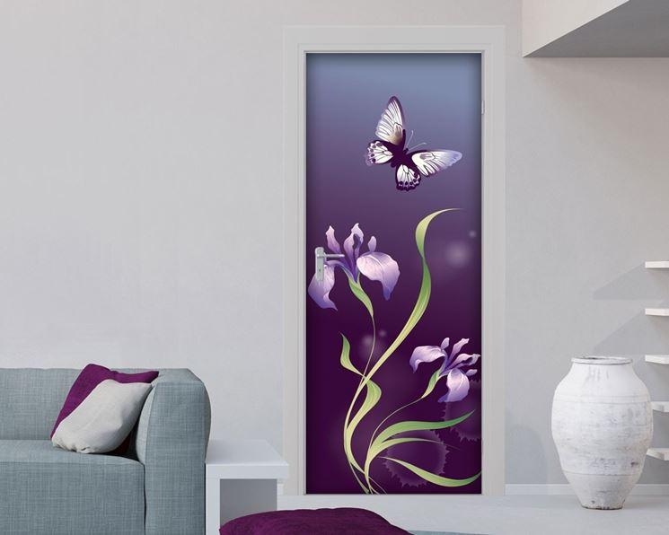 Cover adesive per porte interne porte adesivi per - Decorazioni su porte interne ...
