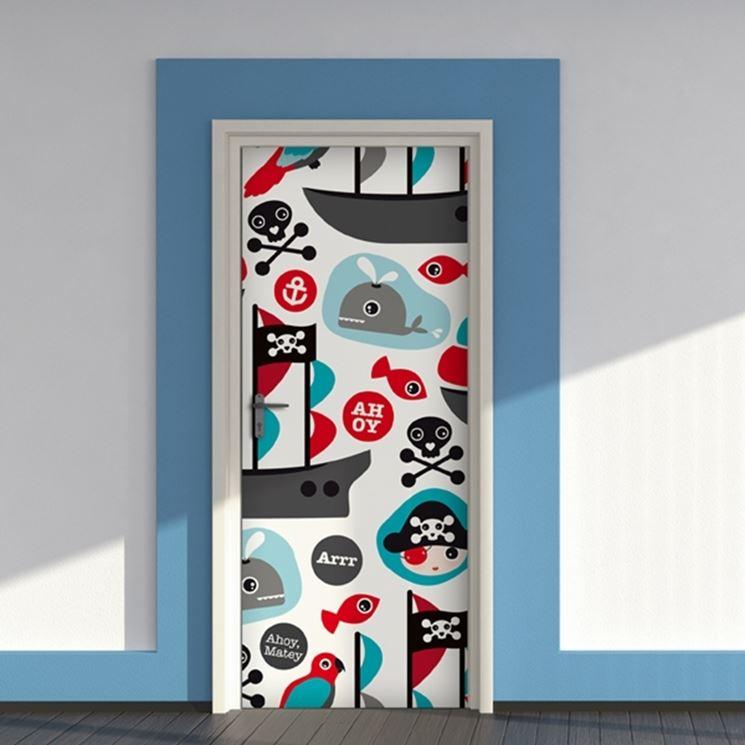 Cover adesive per porte interne porte adesivi per porte interne - Decorazioni porte interne ...