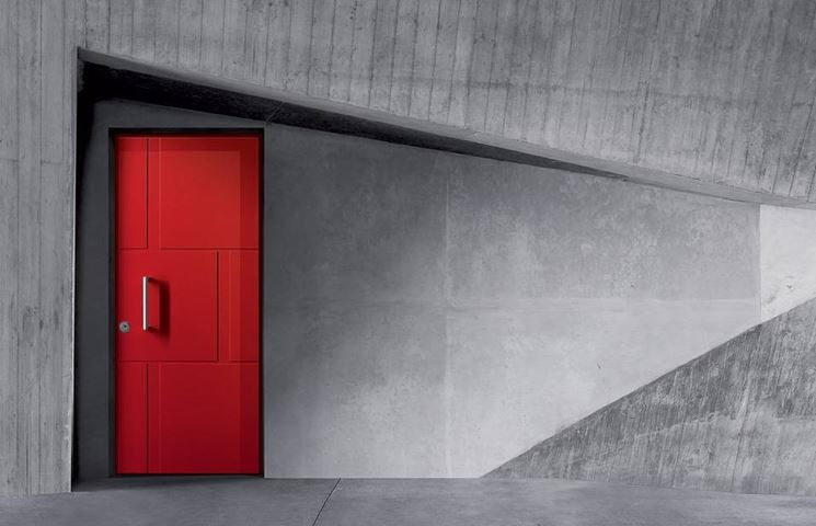porta d'ingresso colorata