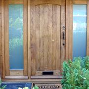 Portone ingresso legno