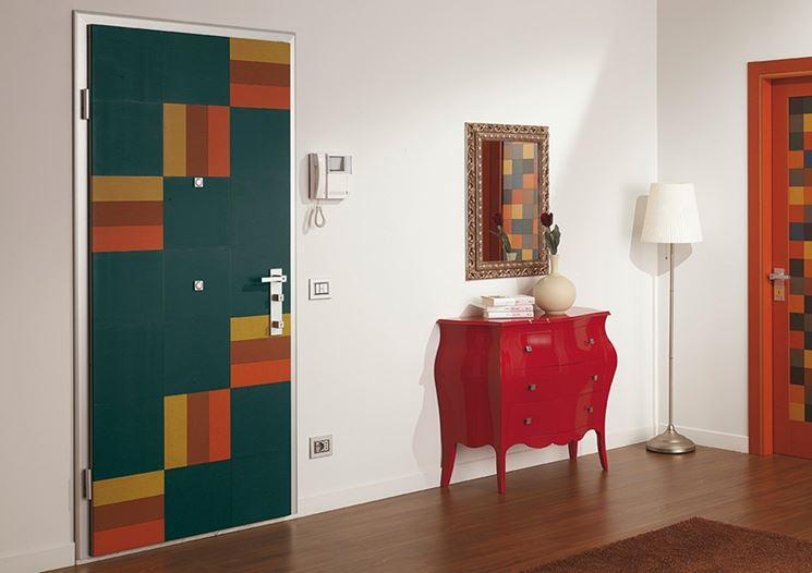 porta blindata colorata