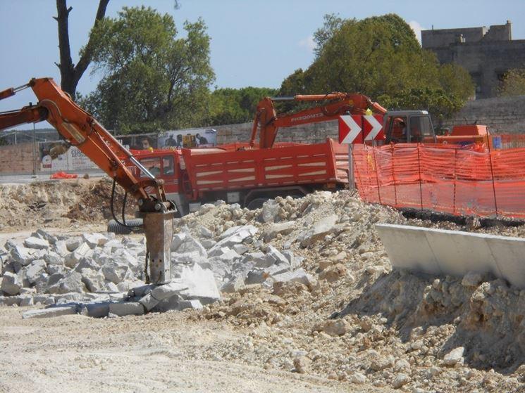 cantiere per demolizione