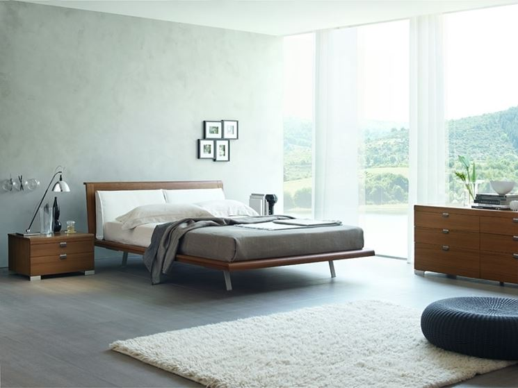 Camera da letto di 40 mq, idea di progetto in azzurro ...